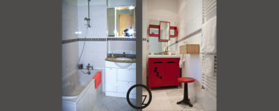 Un meuble de salle de bains plus punchy