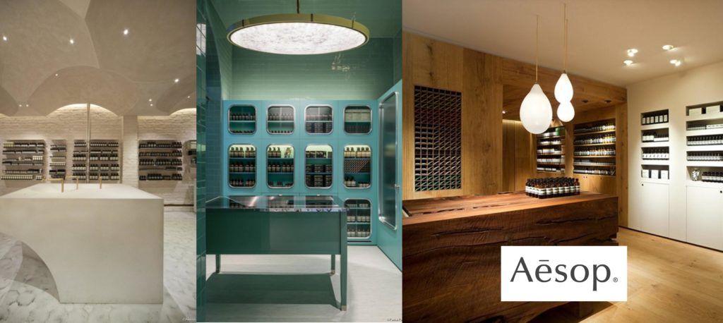 aesop le design et l 39 architecture int rieure. Black Bedroom Furniture Sets. Home Design Ideas