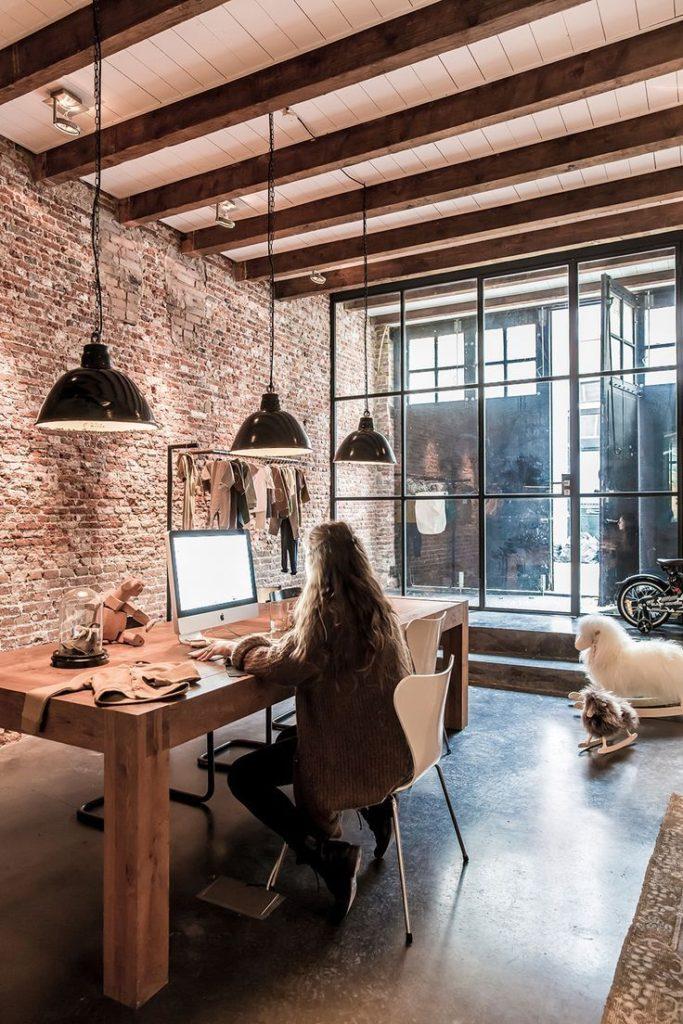 Un coin bureau style loft