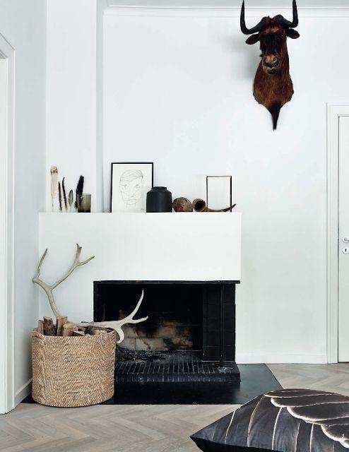 Aménager un angle avec une cheminée