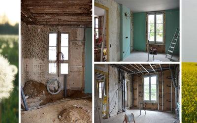 La progression de la rénovation complète d'une maison de maître dans l'Oise