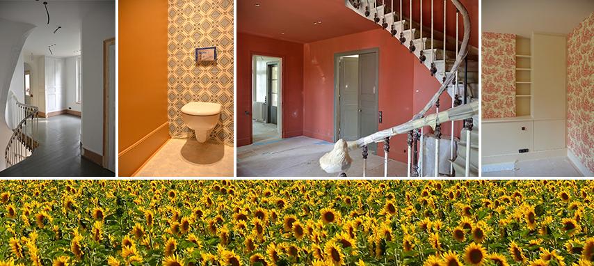 État des lieux de la rénovation complète d'une maison de maître dans l'Oise : Les murs et les sols se parent enfin !