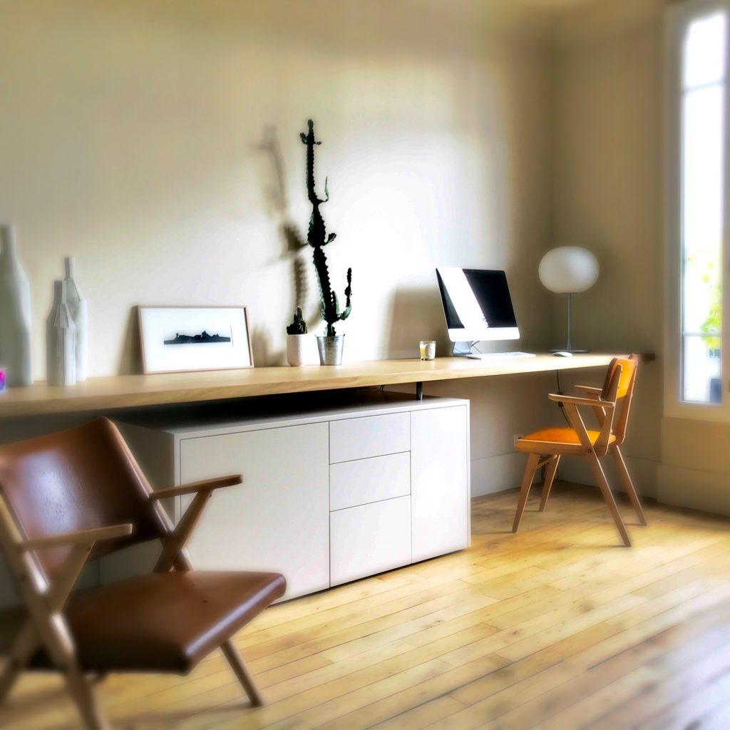 Un bureau sur mesure - article Oz by cath - architecte d'intérieur